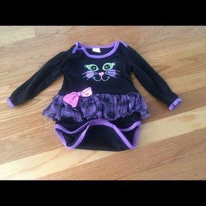 Other - Black Cat Bodysuit Size 6-12 m