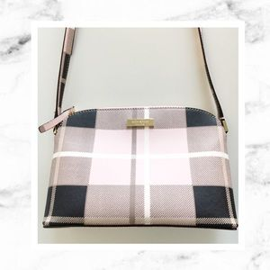 Kate Spade Hanna Newbury Crossbody Bag Pink Plaid