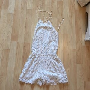 And new Jessica Simpson romper in beige and white