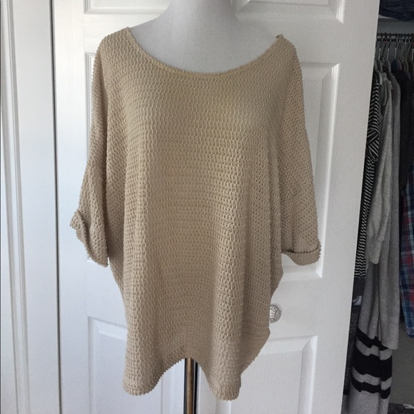 H&M Tops - H&M Slouchy Beige Knit Top S
