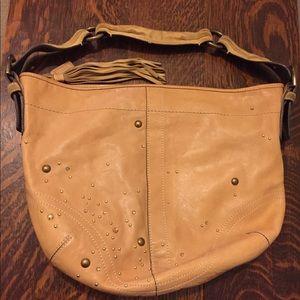 Coach tan genuine leather handbag