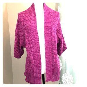 New York & Company Pink/Purple Cardigan