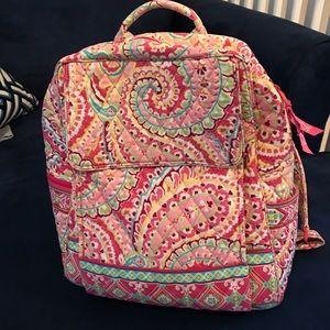 Large Vera Bradley backpack EUC!!