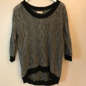 Silence + Noise Black n White high low sweater S