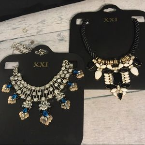 BRAND NEW! Forever 21 Statement necklaces NWT
