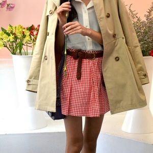 • ralph lauren • red gingham mini skirt