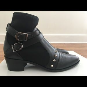 Modern Vice Maxine Neoprene Black Leather Boots