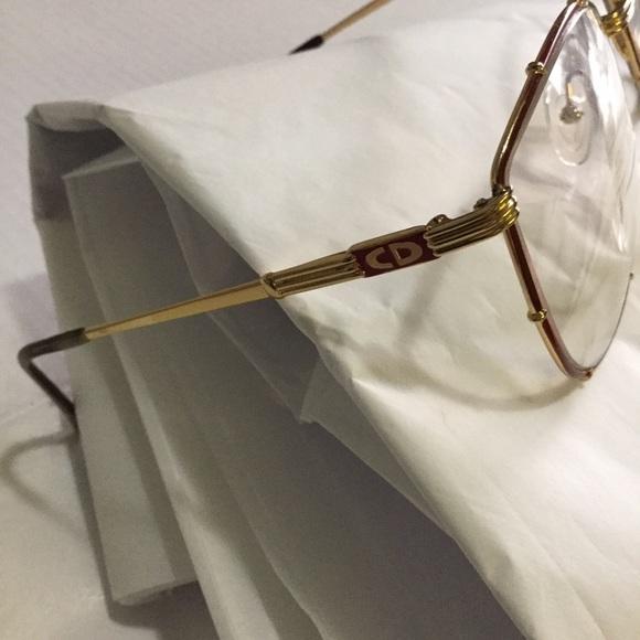 0af04344ea8 Christian Dior Accessories - Christian Dior Vintage Large Frame Gold Glasses