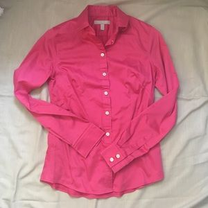 Pink Banana Republic Non-Iron Fitted Dress Shirt