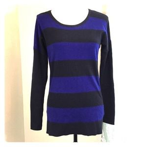 Banana Republic Navy Striped Sweater