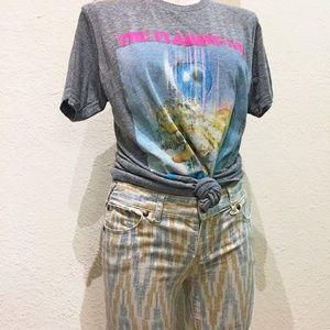 Free People Americana Ikat Ankle Skinny Zippers