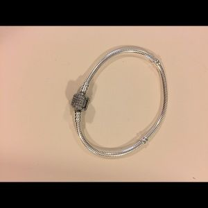 Pandora sterling silver with signature clasp, cuz