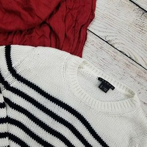 Theory Black and White Knit Sweater