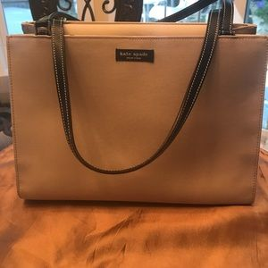 Cute, neutral Kate Spade black and cream handbag!