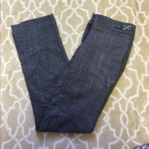 New York and Company Blue Tweed Dress Pants