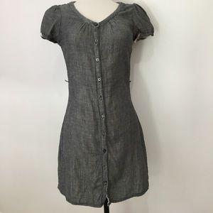 Converse gray button down dress small