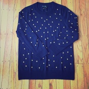 EUC J Crew Tippi with embroidered stars - rare!