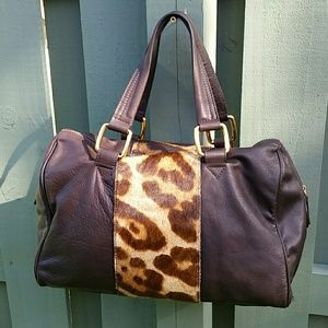 Doncaster bag brown leather w/pony hair