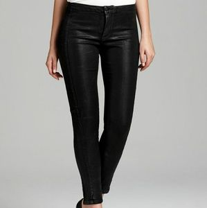 NYDJ Antonia coated jeans with quilted sides