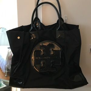 Tory Burch black large Ella tote bag GUC