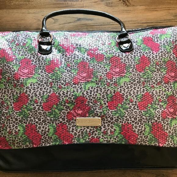 b4a3a0a07d Betsey Johnson Handbags - Betsey Johnson Rose   Leopard Weekender Bag