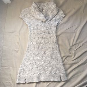 Tunic-length Cowl Neck Sweater