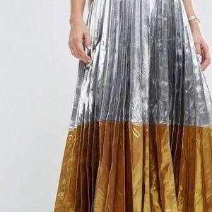 ISO: This Asos Metallic Pleated Skirt