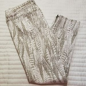 Free People Zippered Ankle Print Pants