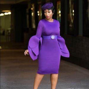 Dresses & Skirts - Lucy Midi Dress (purple)