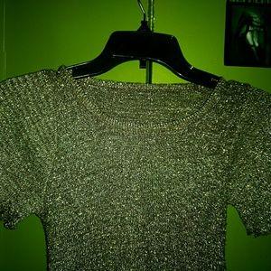 Vintage disco glittery crop top, 70's, sparkles!