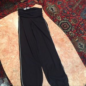 Bebe sport fold over athletic pants with gathering