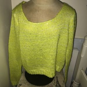 Yellow sparkly sweater