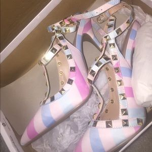 new in box studded heels