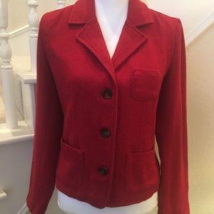 Old Navy Red Herringbone Tweed Blazer Size 8
