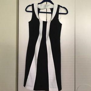 NWOT Tinley Road Black and White semi formal dress