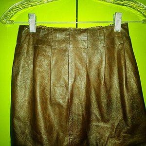 Buttery soft Zara woman brown leather mini