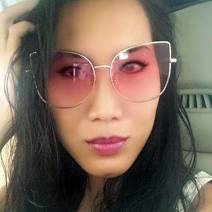 Pink Cat Eye Sunglasses