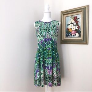 Cynthia Rowley Green Floral Dress