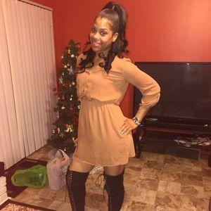 Orange Rust Dress