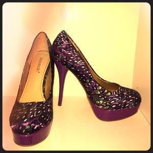 NWOT ShoeDazzle Pumps - size 9, purple peacock
