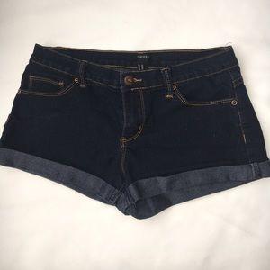 denim blue shorts