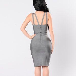 Grey Bondage Dress