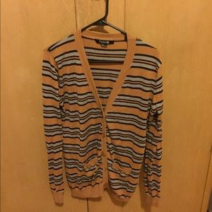 Forever 21 button up striped cardigan