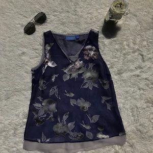 Simply Vera Wang Floral Chiffon Tank Top
