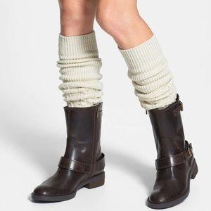 Free People Knit Cream Legwarmers