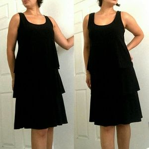Shirt Black Evening Party Cocktail LBG Dress Top