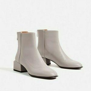 Zara Square Heel Ankle Boot Sz 7.5