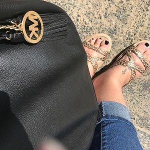 Leopard Print Slip On Croc Sandals