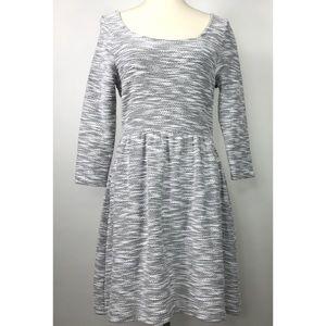 Maison Jules Space Dye 3/4 Sleeve Sweater Dress