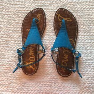 San Edelman Malibu blue sandals like new 8.5
